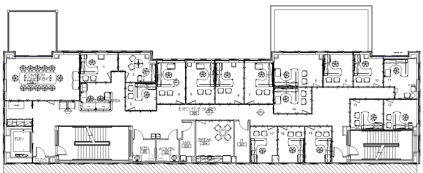 Office Floor Plans Office Floor Plan - 17th & Central Executive ...