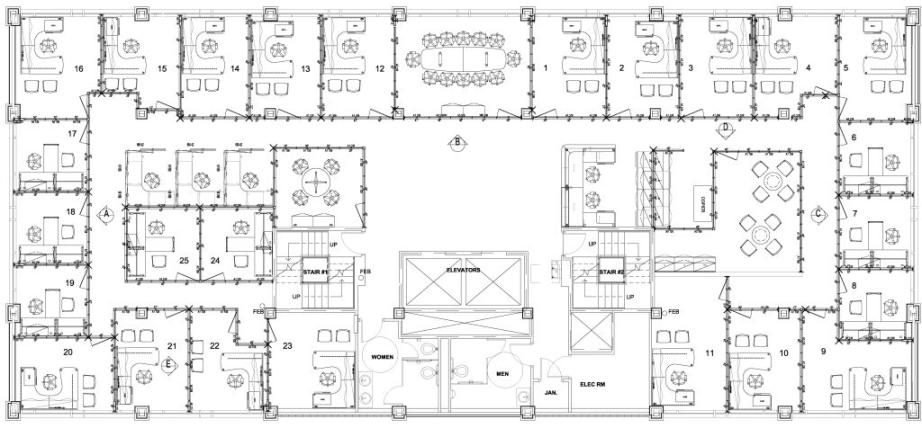 Raleigh Executive Suite Office Space Floor Plans Crabtree Valley ...
